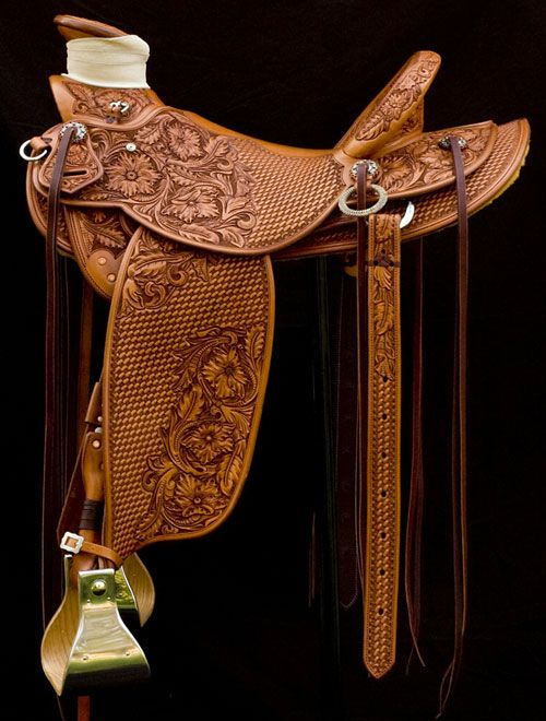 Frecker's Western Saddles-Full basket/Floral made by David Rigby...SR