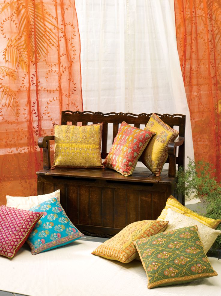 Amazing #cushions #embroidery #prints #solids #cotton #silk #chanderi #home