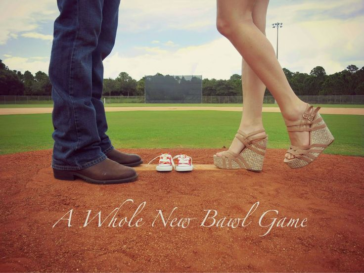"Our (baseball) Pregnancy Reveal: ""A Whole New Bawl Game!"" Little baby Conley's is coming soon!"