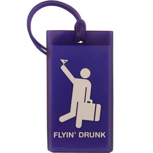 F1 FLYIN' DRUNK TAG - alternative to the Moleskine Luggage Tags -