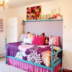 How to create a DIY daybed from vintage headboards.