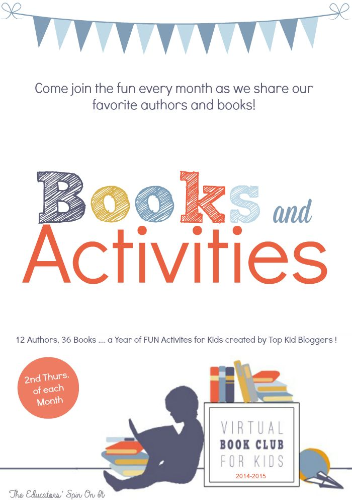Virtual Book Club for Kids featured Books and Authors for 2014-2015.  12 Authors 36 books and hours of fun!  Come join us each month!