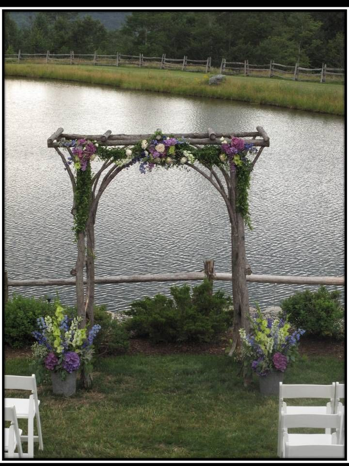 Gorgeous wedding arbor at The Ponds at Bolton Valley #vermont #wedding #vtflowers | Fun wedding ideas for a Vermont Wedding | Pinterest | Wedding, Wedding arbo…