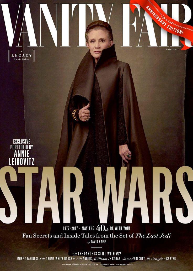 Star Wars : 祝「スター・ウォーズ」40周年記念 ! ! のヴァニティ・フェア最新号のカバーに、覚醒トリロジーの第2弾「ザ・ラスト・ジェダイ」のメイン・キャストが全員登場 ! ! - CIA Movie News