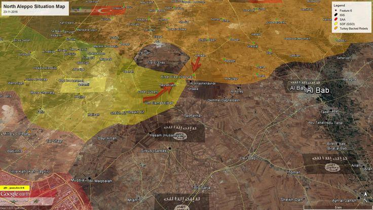 North #Aleppo (Al-Bab) Situation Map  23-11-2016 #Syria #Rebels & #Turkey vs #ISIS vs #SDF #EuphratesShield