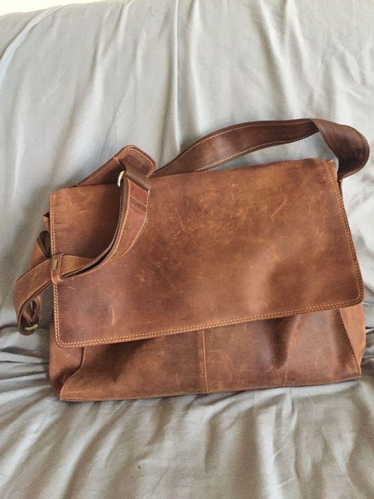 Visconti Large Leather Messenger Bag #Visconti #MessengerShoulderBag