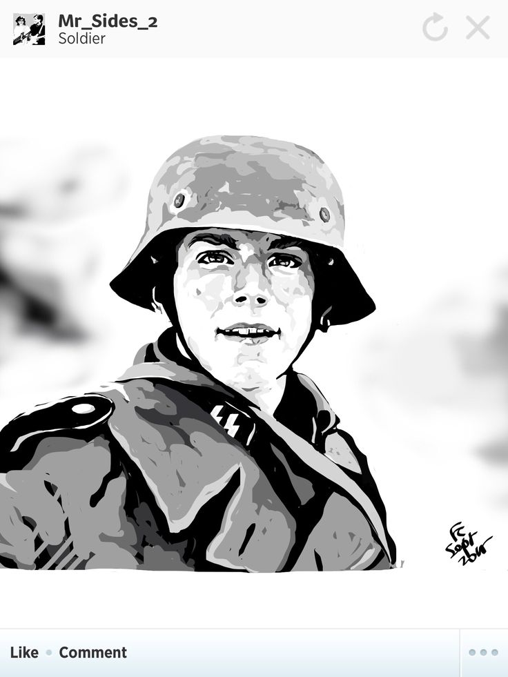 Intending to draw the young Waffen SS soldier that fell in episode 5 of Band of Brothers. Saddest moment of the TV Series to me.