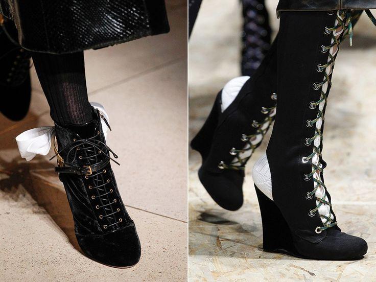 Обувь со шнуровкой. Тренды 2017 - http://fashiontweaks.ru/
