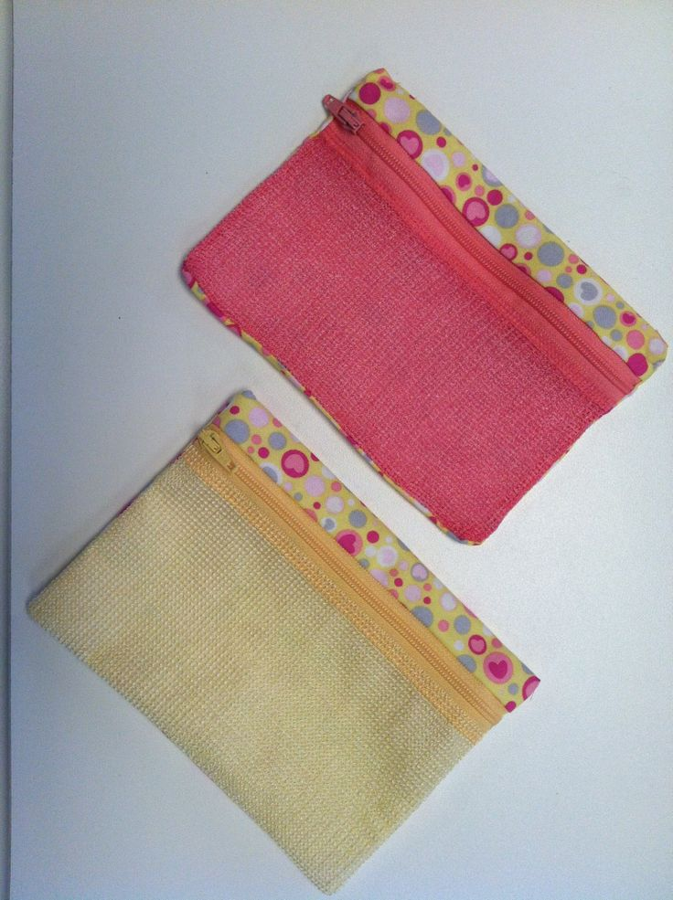 Mesh zipper bags made in the hoop by smith street designs