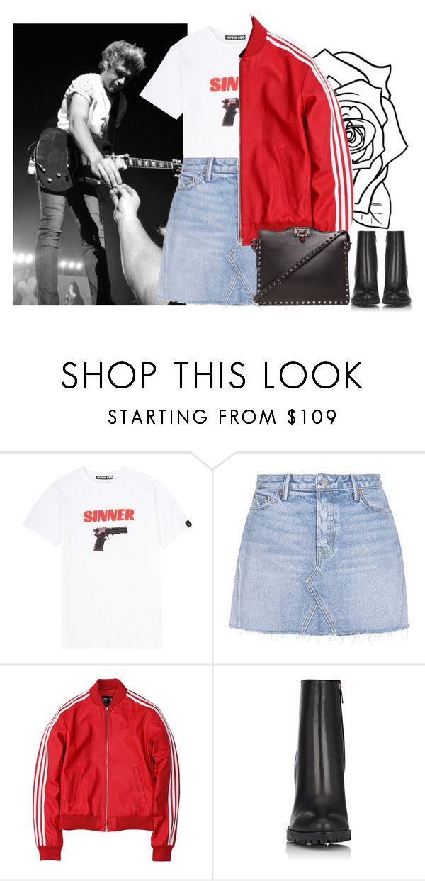 """OneDirection's concert (Niall's girlfriend)"" by ilaria-1999 on Polyvore featuring moda, Hyein Seo, GRLFRND, adidas, Gianvito Rossi e Valentino"
