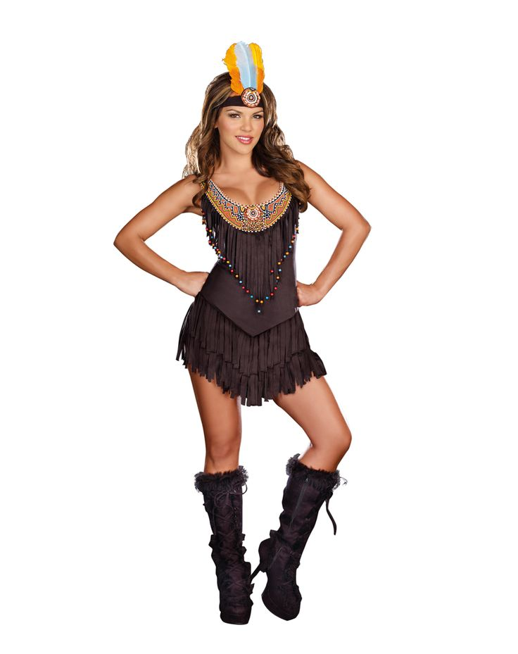 Reservation Royalty Adult Women's Costume at Spirit Halloween - There's no need to send smoke signals to get your point across when you wear this Reservation Royalty adult women's costume. The fringed, microsuede mini dress comes complete with a matching feathered headband. You'll be a smokin' hot site in this sexy women's costume for only $54.99.
