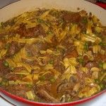 Gluten free beef and noodles