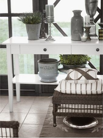 Large Console Table White - £625.00 - Hicks and Hicks