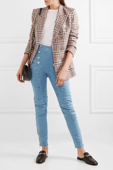 Pierre Balmain - High-rise Skinny Jeans - Light blue
