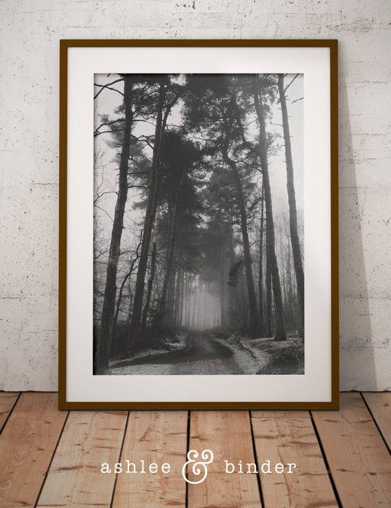 Moody Woodlands Printable Modern Scandinavian Print Winter Etsy In 2020 Winter Landscape Photography Scandinavian Print Winter Landscape