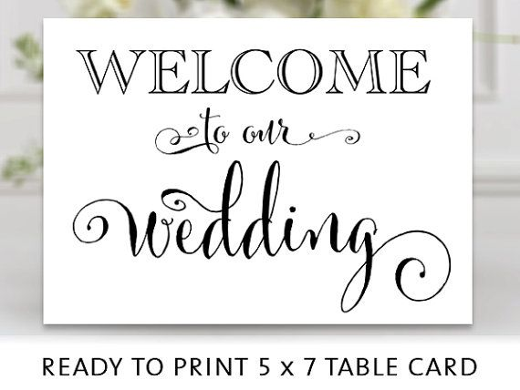 welcome to our wedding sign 5x7 sign diy by charmingendeavours weddings pinterest. Black Bedroom Furniture Sets. Home Design Ideas