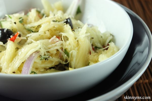 Spaghetti Squash Pasta Salad #spaghettisquash #pastasalad