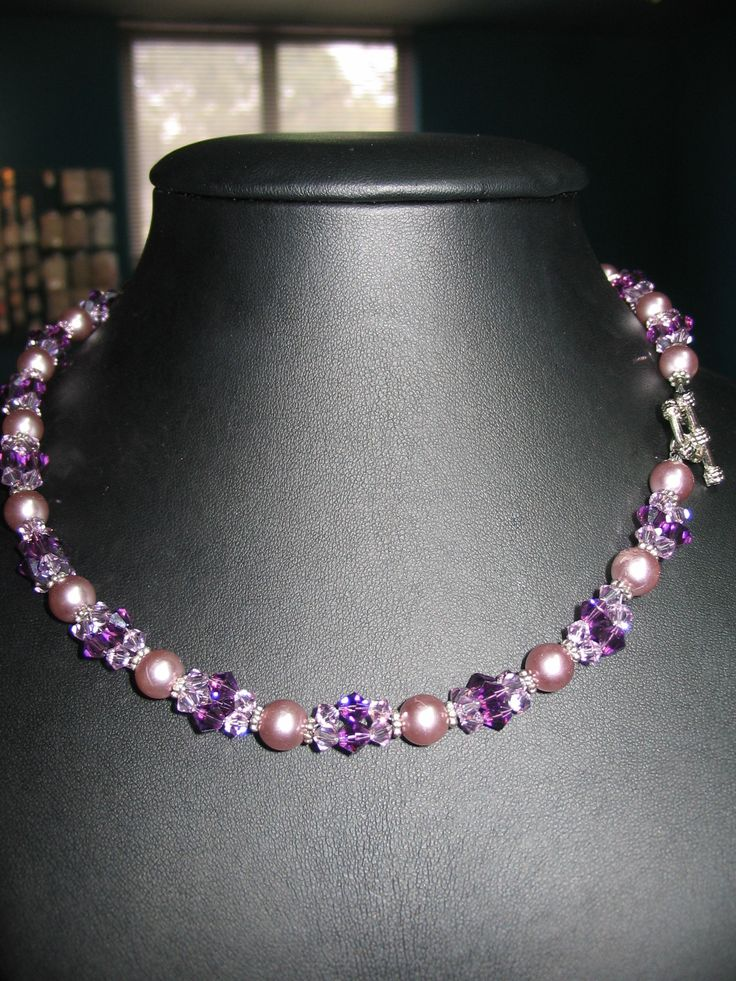 Good Here Is A Free Beading Pattern For An Easy Necklace Using Swarovski Crystal  Beads. Take 3 Lengths Of Nylon Thread Cut To Size For A Necklace.