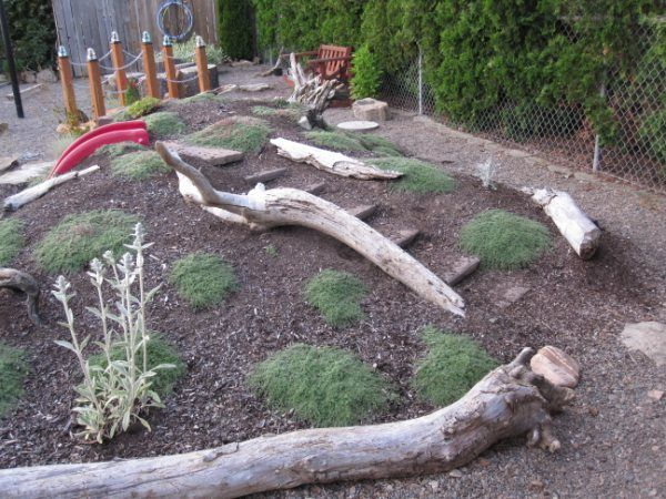 natural outdoor playscapes | Natural Playscape @ Angela's Playcare