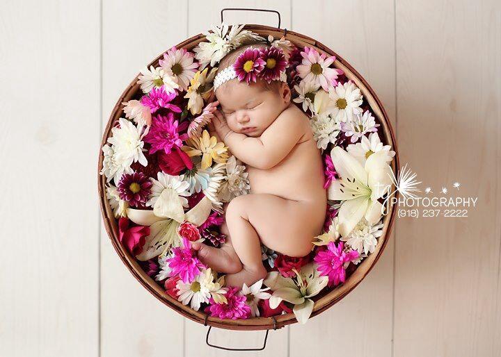 Flower girl - baby photo shoot idea