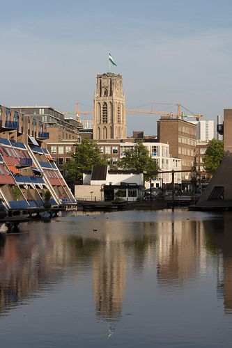 Laurens kerk water reflection Rotterdam Centre #Rotterdam #010 #Holland #Netherlands #City #Centre #Centrum #Stad #Citylife #Urban #Architecture #Building #Buildings #Stadsleven #Nederland #Dutch #Roffa