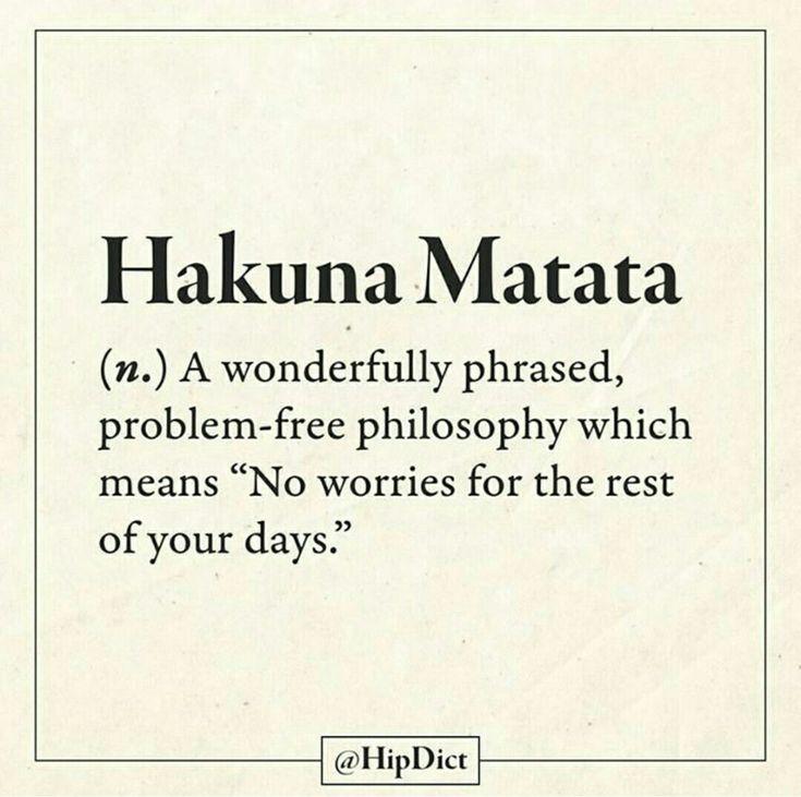 25 best hakuna matata quotes on pinterest disney stairs lion king quotes and hakuna matata - Signification hakuna matata ...