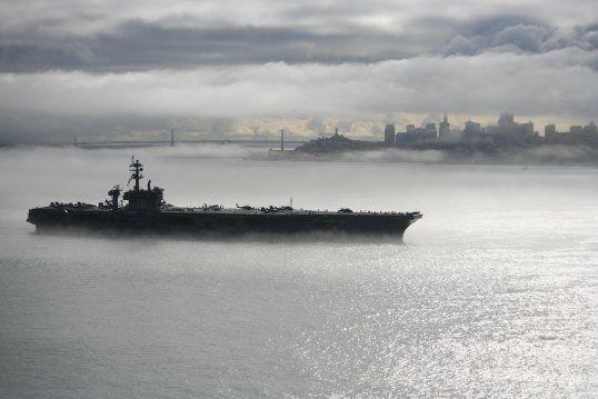 US navy aircraft carrier san francisco