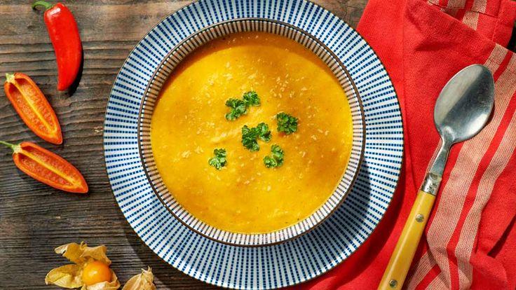 Kokosovo-mrkvová polievka s karí