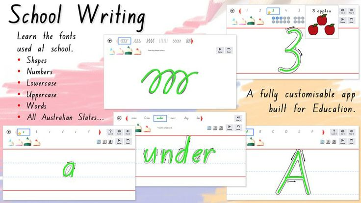 School Writing AU/NZ // A learn to write app, containing the approved handwriting fonts that are taught in your school.   School Writing includes 28 individual plain and cursive letters for use in each Australian state - NSW, QLD, SA, VIC & TAS, New Zealand, South Africa, UK. The app also features Zaner-Bloser and D'Nealian styles used for learning handwriting in American schools.