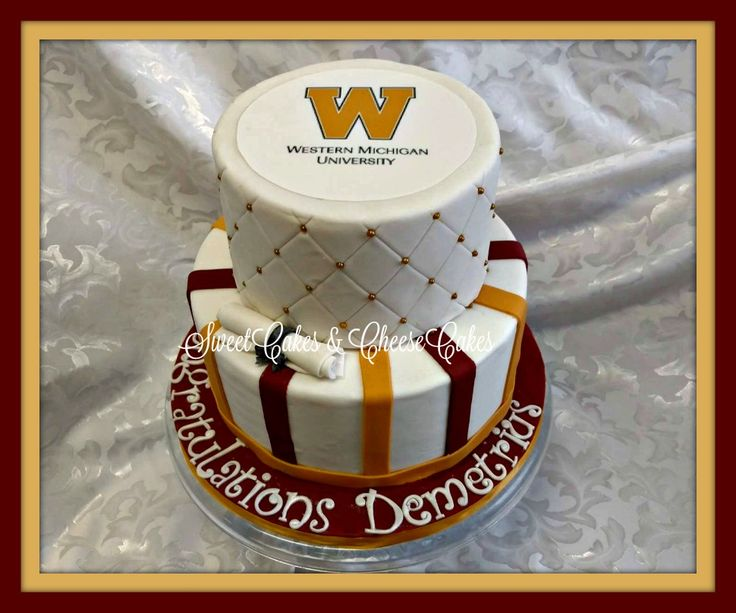 Western Michigan University graduation cake