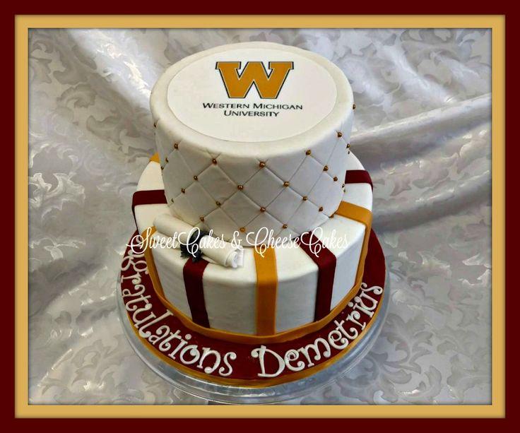 Western Michigan University graduation cake