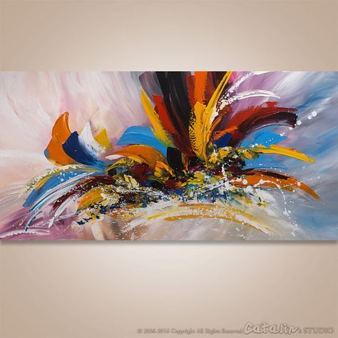 Abstract Painting, Abstract Art, Original Painting, Contemporary Art, Acrylic Art, Canvas art, Artwork, Textured Painting, Textured Wall Art, Wall Decor, Fine Art Painting, Large Art, Large Painting, abstract wall art, home decor -------------------- Welcome To Our Studio! -------------------- Hand Painted Modern Original Abstract Paintings by Gabriela and Catalin! ---------------------------------------------------------------------------- Title: The Last Temptation #2 Size: 48x24x1.2...