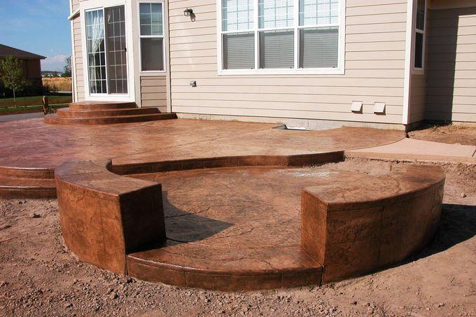 poured concrete patio outdoor patio pinterest