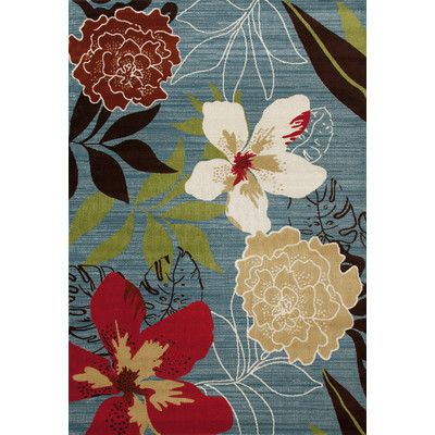 Art Carpet Antigua Tropical Blue Indoor/Outdoor Area Rug Rug Size: 8' x 11'