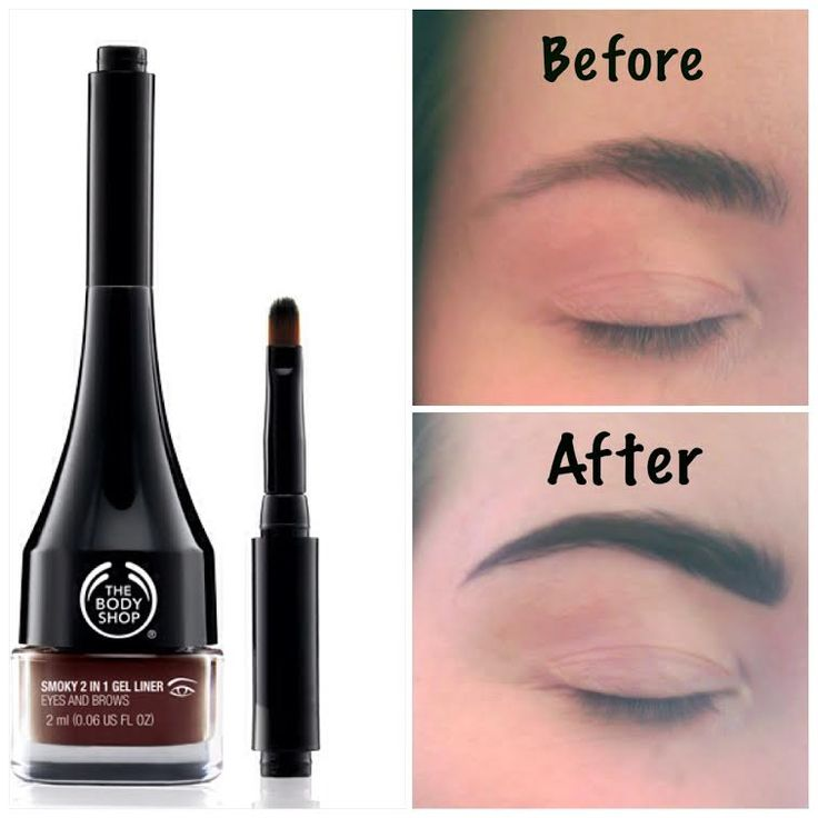 Brow perfection with NEW Gel Brow & Lash liner from The Body Shop