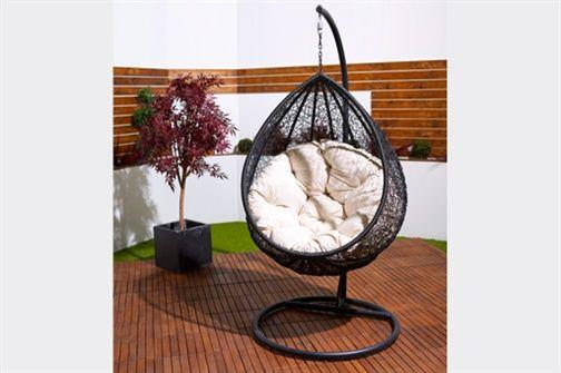 Teardrop hanging chair