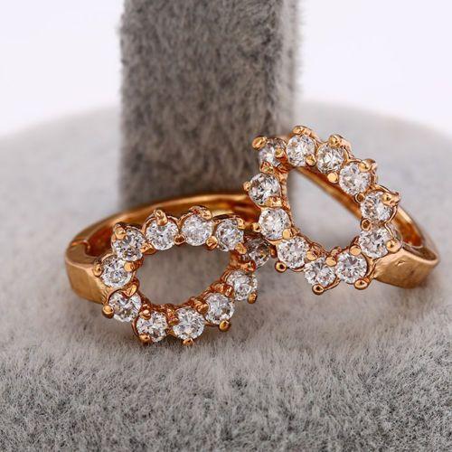 Luxus Ohrringe 750er Gold 18K echt vergoldet Callissi Schmuck Strass Geschenk  Durch die Vergoldung verfärben sich unsere Schmuckstücke nicht