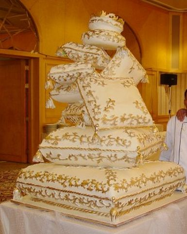 Royal cakes | Middle Eatern royal wedding cake pictures.PNG