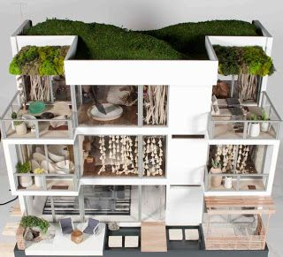 1000 images about miniature modern dollhouses on pinterest for Townandcountrymag com customer service
