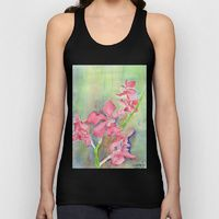 Unisex Tank Top featuring Red orchid by ewally