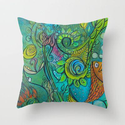 Sea Goddess 2 Throw Pillow by Valerie Parisius - $20.00