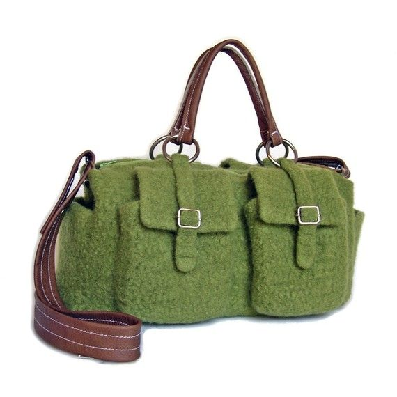 love felting #crochet. cool #bag