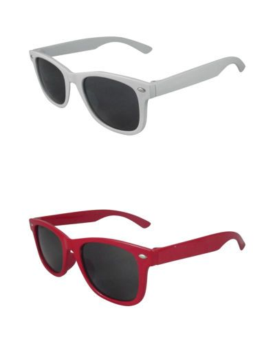 2 Pairs of kids girls boys Classic style sunglasses in black blue red and pink