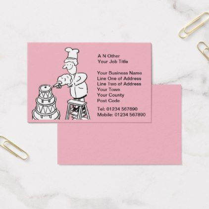 #Wedding Cake Makers Business Card - #office #gifts #giftideas #business