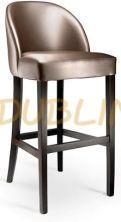 BO1008 - BO 1008 Čalúnená buková barová stolička