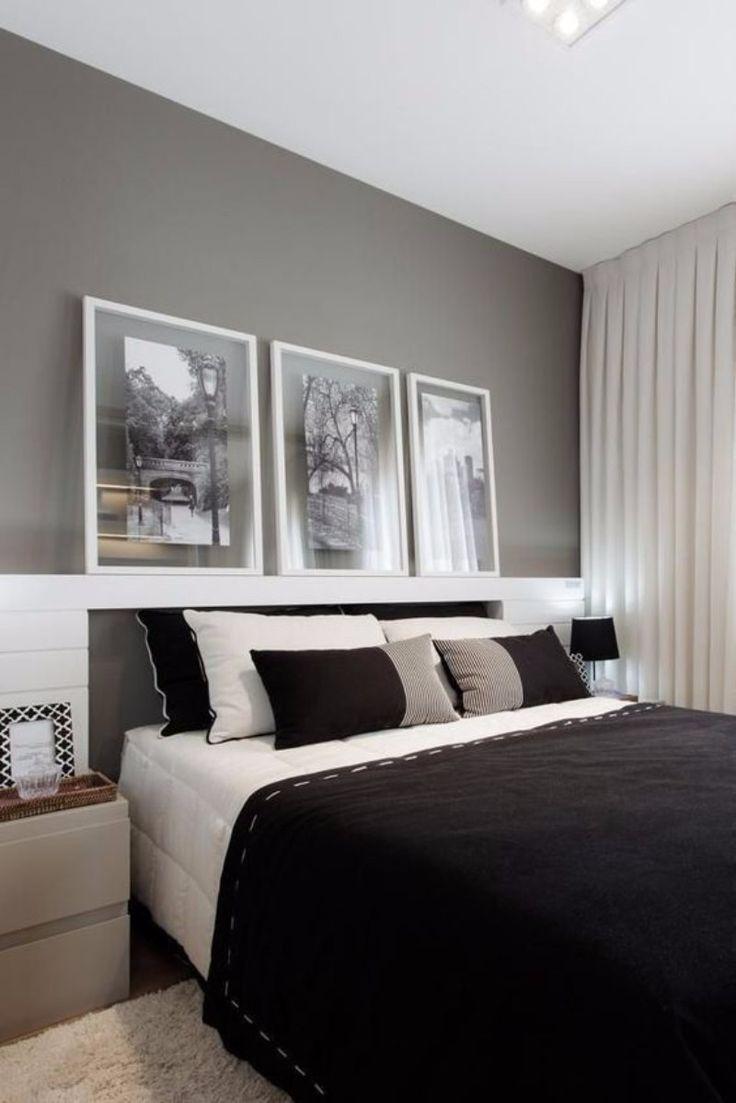 10 schwarze und weiße Schlafzimmer im zeitgenössischen Stil