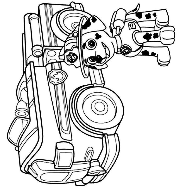 Marshall coloring page Paw Patrol Party Pinterest