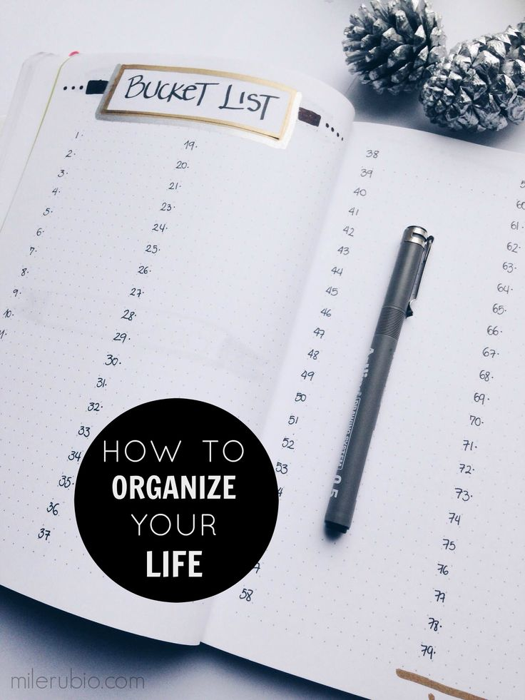 how to start organizing your life reddit