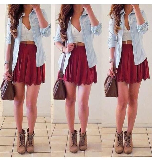Cute maroon skirt | Clothes/fashion | Pinterest | Skirts and Maroon skirt