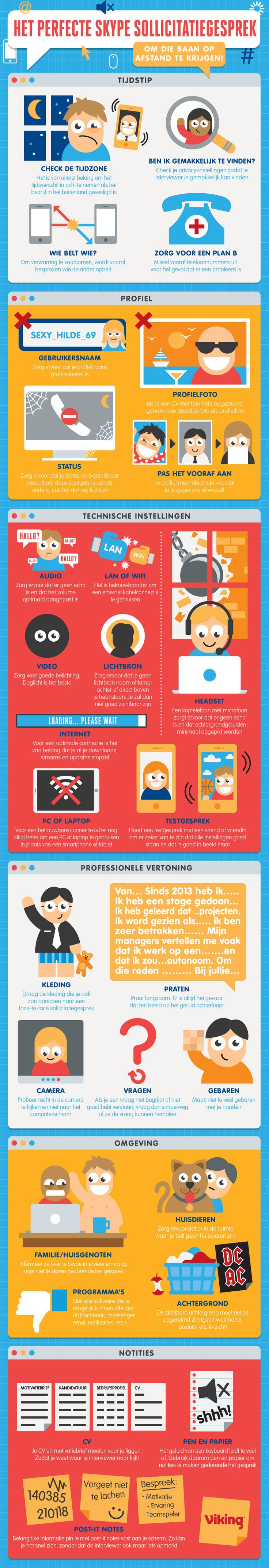 Heb je een sollicitatiegesprek via Skype? Met deze tips ben je perfect voorbereid.